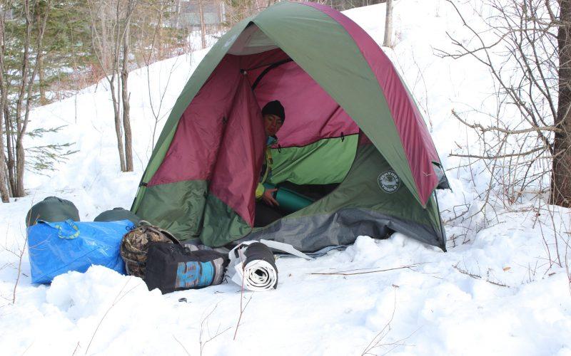 Un premier camping hiverval pour la concentration plein air